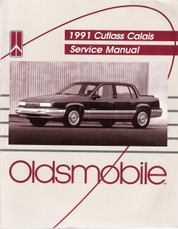 1991 Oldsmobile Cutlass Calais Factory Service Manual