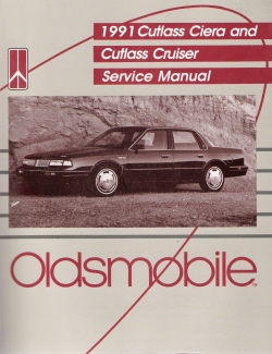 1991 Oldsmobile Cutlass Ciera & Cutlass Cruiser Factory Service Manual