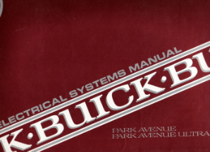 1991 Buick Park Avenue Electrical Systems Manual