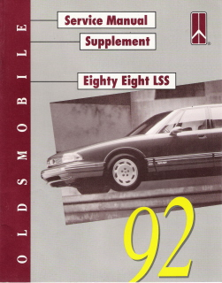 1992 Oldsmobile Eighty-Eight LSS Factory Service Manual Supplement