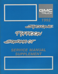 1992 GMC Syclone, Typhoon,Sonoma GT Service Manual Supplement