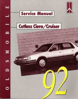 1992 Oldsmobile Cutlass Ciera and Cruiser Factory Service Manual
