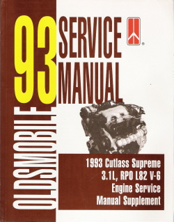 1993 Oldsmobile Cutlass Supreme Factory Service Manual Supplement