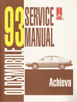 1993 Oldsmobile Achieva Factory Service Manual