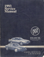 1993 Buick Park Avenue, LeSabre Factory Service Manual