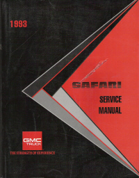 1993 GMC Safari Service Manual
