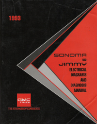 1993 GMC Sonoma and Jimmy Electrical Diagrams and Diagnosis Manual