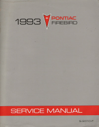 1993 Pontiac Firebird Service Manual