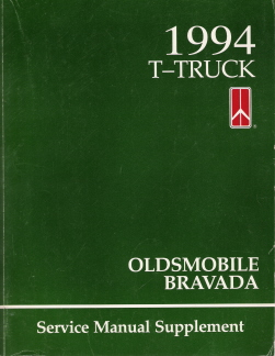 1994 Oldsmobile Bravada Factory Service Manual Supplement