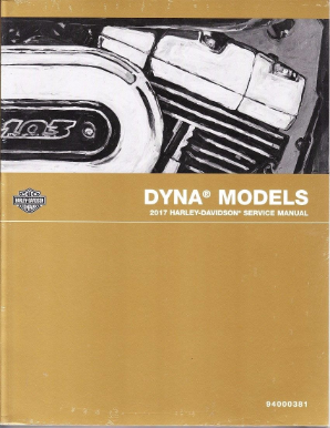 2017 Harley-Davidson Dyna Models Factory Service Manual