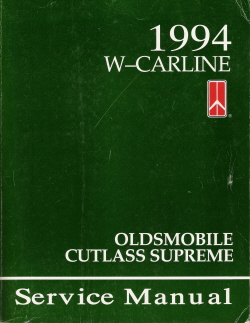 1994 Oldsmobile Cutlass Supreme Factory Service Manual