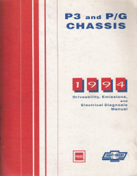 1994 Chevrolet/GMC P3 &  P/G Driveability, Emissions and Electrical Diagnosis Service Manual