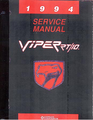 1994 Dodge Viper Body, Chassis & Drivetrain Electrical Shop Manual