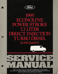 1995 Ford Econoline Power Stroke 7.3L Direct Injection Turbo Diesel Supplement Service Manual