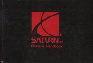 1996 Saturn S Series Factory Owner's Manual