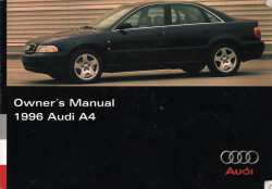 1996 Audi A4 Owner's Manual