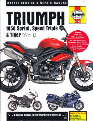 2005 - 2013 Triumph 1050 Sprint ST, Speed Triple and Tiger Haynes Service & Repair Manual
