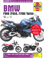 2006 - 2016 BMW F800, F650 and F700 Twins Haynes Repair Manual