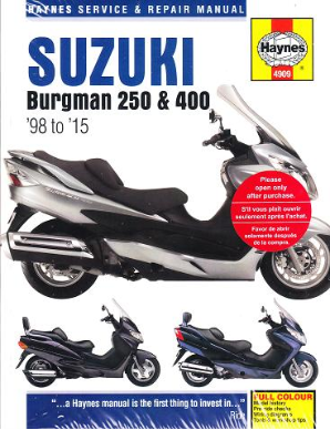 1998 - 2015 Suzuki Burgman 250 & 400 Scooter Haynes Repair Manual