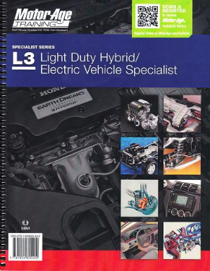 ASE Test Prep Manual -- Automobile L3, Light Duty Hybrid / Electric Vehicle Specialist