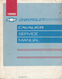 1990 Chevrolet Cavalier Factory Service Manual