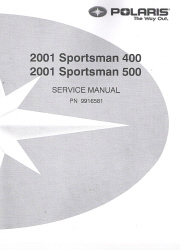 2001 Polaris Sportsman 400 and 500 Factory Service Manual
