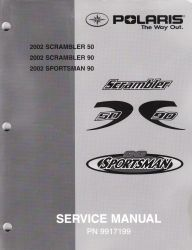 2002 Polaris Scrambler, Sportsman, 50, 90, Factory ATV Service Manual