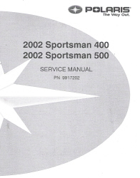 2002 Polaris Sportsman 400 & 500 Factory Service Manual