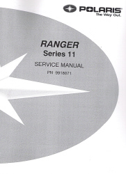 2003 & 2004 Polaris Ranger Series 11, 2x4, 4x4, 6x6 Factory Service Manual