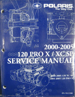 2000-2005 Polaris 120 XC SP, 2004-2005 120 Pro X Snowmobile Repair Manual