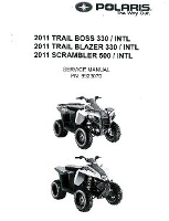 2011 Polaris Trail Boss 330, Trail Blazer 330 & Scrambler 500 4X4 Factory Service Manual - Softcover