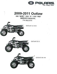 2011 Polaris Outlaw 450S, 525S & 525 IRS Factory Service Manual