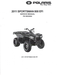 2011 Polaris Sportsman 800 4x4 EFI Factory Service Repair Workshop Manual