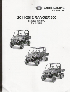 2011 - 2012 Ranger 800 XP HD Crew & 6X6 Factory Service Manual