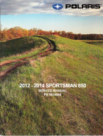 2012 - 2014 Polaris Sportsman 850, XP, EPS, Touring, H.O. Factory Service Manual