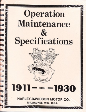 1911 - 1930 Harley-Davidson Operation, Maintenance & Specification Manual