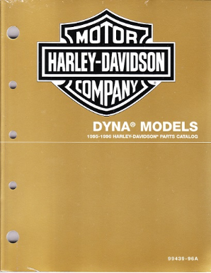 1995 - 1996 Harley-Davidson Dyna Models Factory Parts Catalog