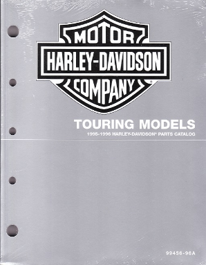 1995 - 1996 Harley-Davidson Touring Models Factory Parts Catalog