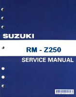 2011- 2012 Suzuki RM-Z250 Factory Service Manual