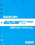 1993 - 1995 Suzuki GSX-R750 Factory Service Manual