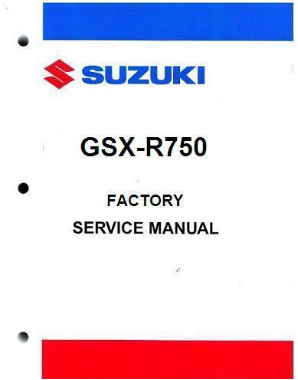 2000 - 2003 Suzuki GSX-R750 Factory Service Manual
