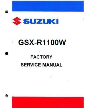 1993 - 1998 Suzuki GSX-R1100W Factory Service Manual