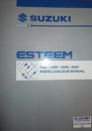 1998 - 2001 Suzuki Esteem Factory Wiring Diagrams Manual