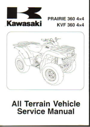 2003 - 2013 Kawasaki KVF360 Prairie ATV Factory Service Manual