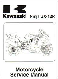 2002 - 2006 Kawasaki ZX-12R Motorcycle Factory Service Manual