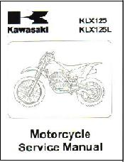 2003 - 2006 Kawasaki KLX125LB1 Motorcycle Factory Repair Manual
