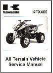 2003 - 2005 Kawasaki KFX400A ATV Factory Service Manual