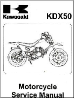 2003 - 2006 Kawasaki KDX50A Factory Service Manual