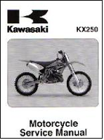 2005 - 2007 Kawasaki KX250 Motorcycle Factory Service Manual