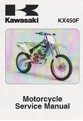 2006 - 2008 Kawasaki KX450F Motorcycle Factory Service Manual